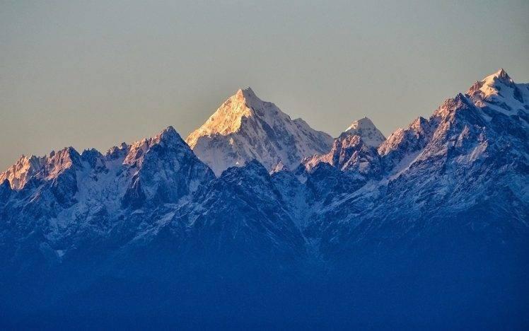 Himalaya Hd Wallpaper Landscape Nature Sunrise Mountain Snowy Peak Summit