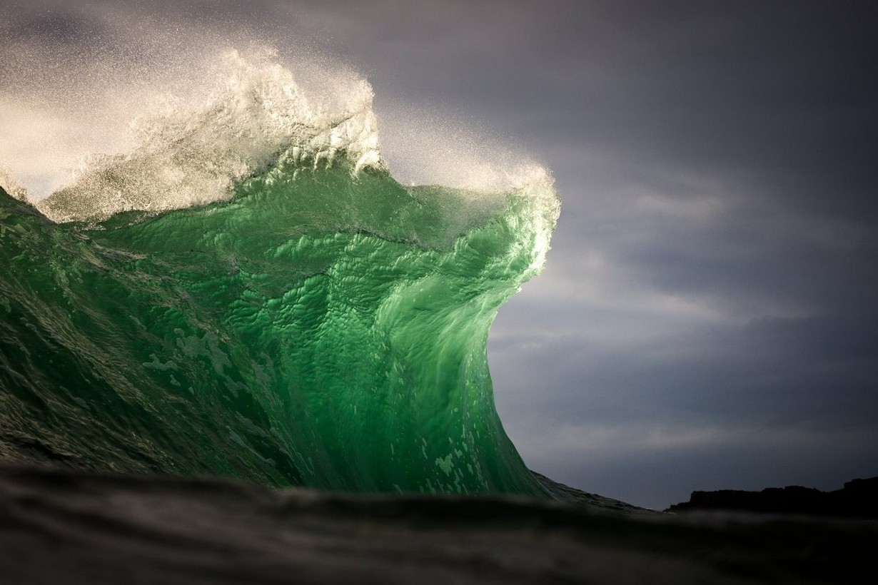 Full Hd Wallpaper For 5 Inch Screen Nature Landscape Green Sea Waves Water Wind Clouds