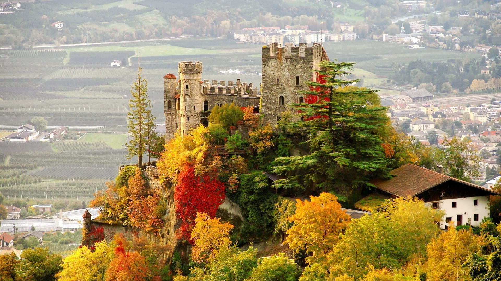 1280x800 Fall Wallpaper Architecture Building Landscape Castle Tyrol Italy