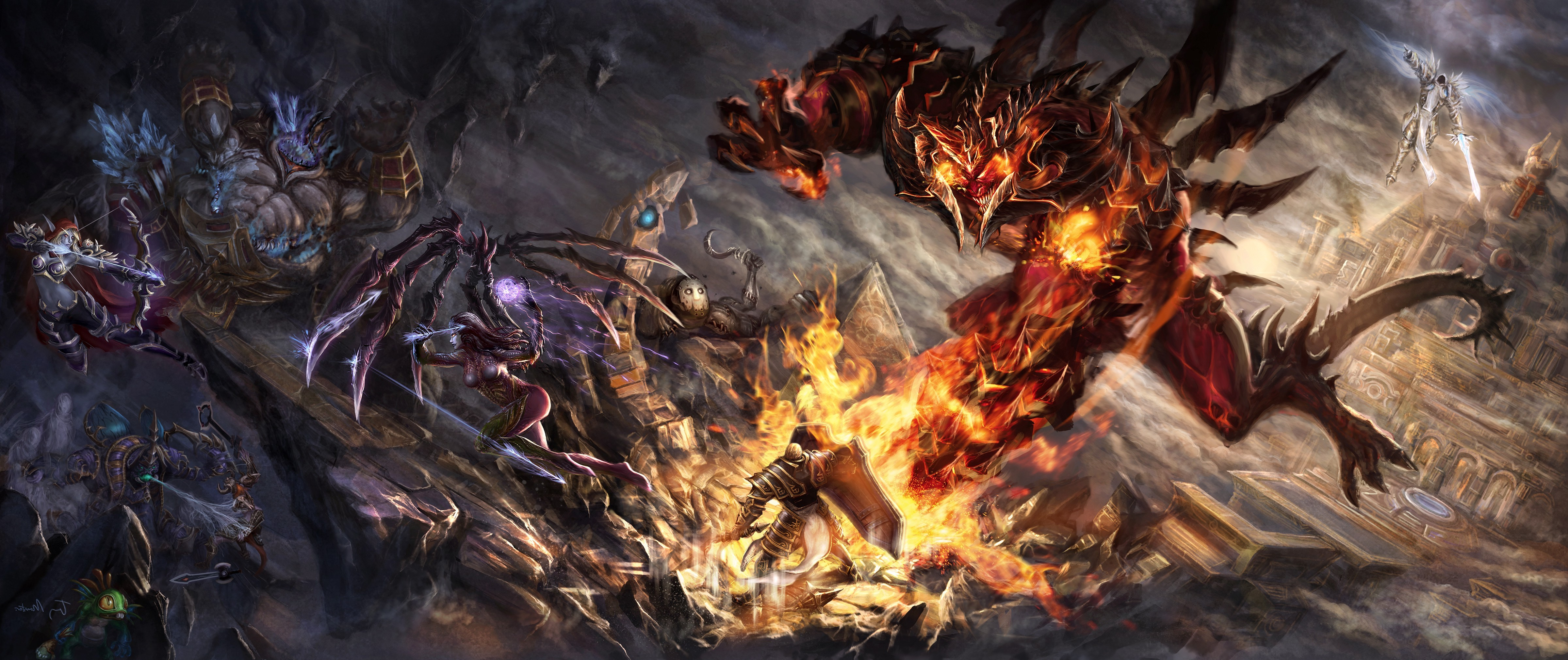 Heroes Evolved Hd Wallpaper Heroes Of The Storm Contests Blizzard Entertainment