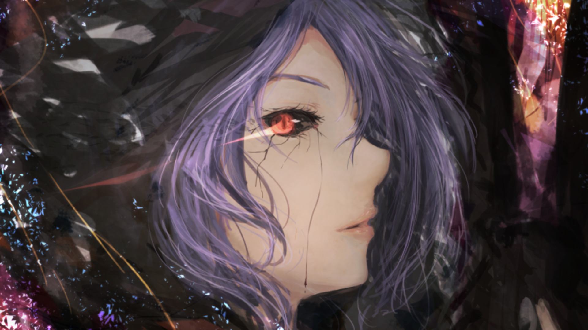 Sad Love Boy And Girl Wallpaper Hd Fantasy Art Tokyo Ghoul Kirishima Touka Anime Girls