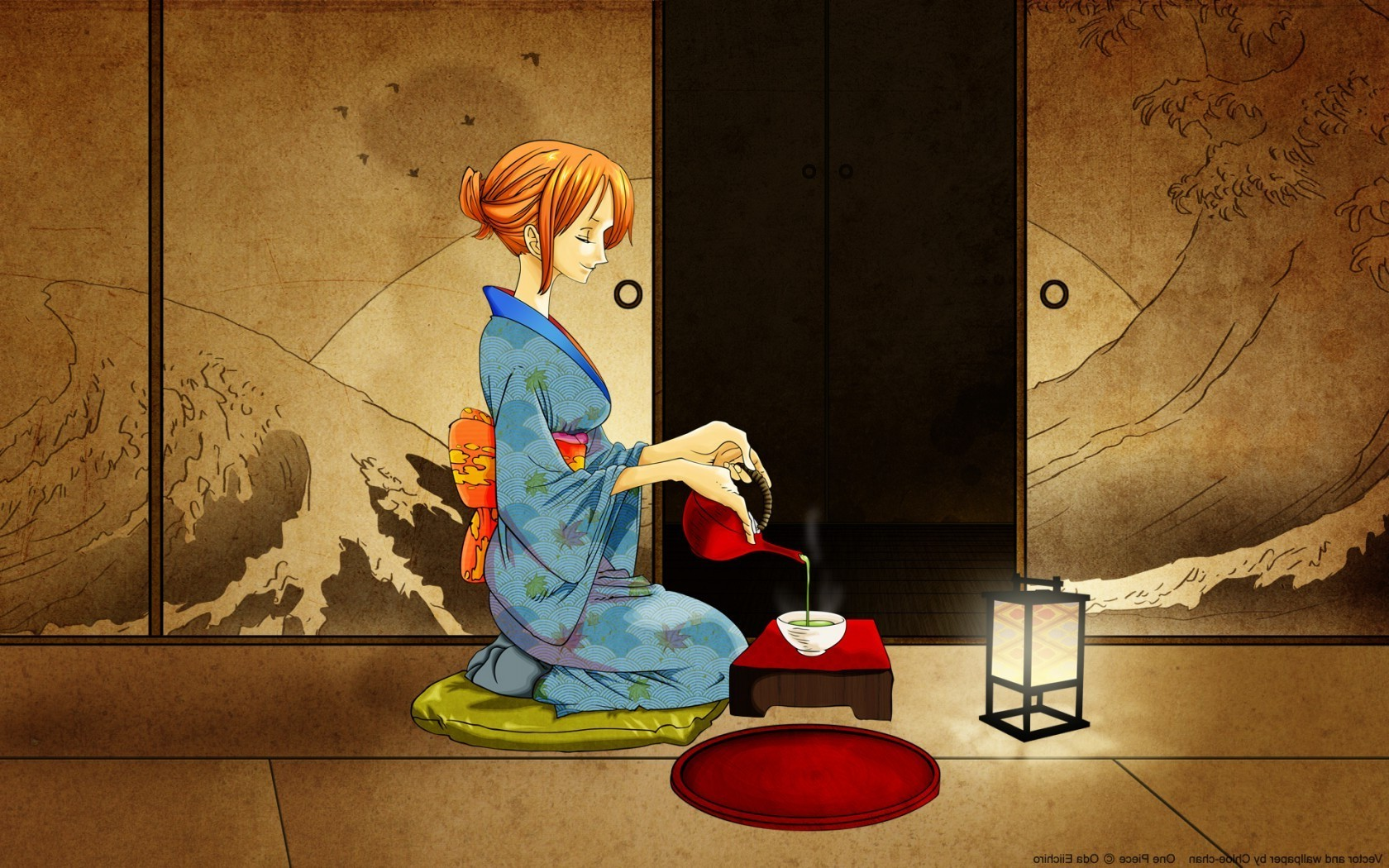 One Piece New World Hd Wallpaper One Piece Nami Kimono Wallpapers Hd Desktop And Mobile