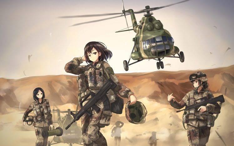 Afghan Girl Eyes Wallpaper Tc1995 Military Mi 8 Women Anime Girls Weapon