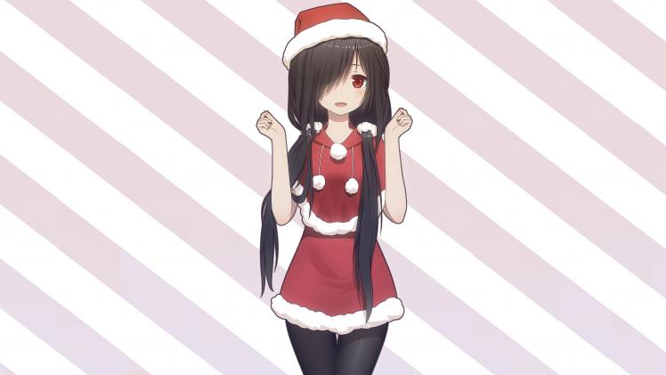 Santa Claus Girl Wallpaper Date A Live Tokisaki Kurumi Christmas