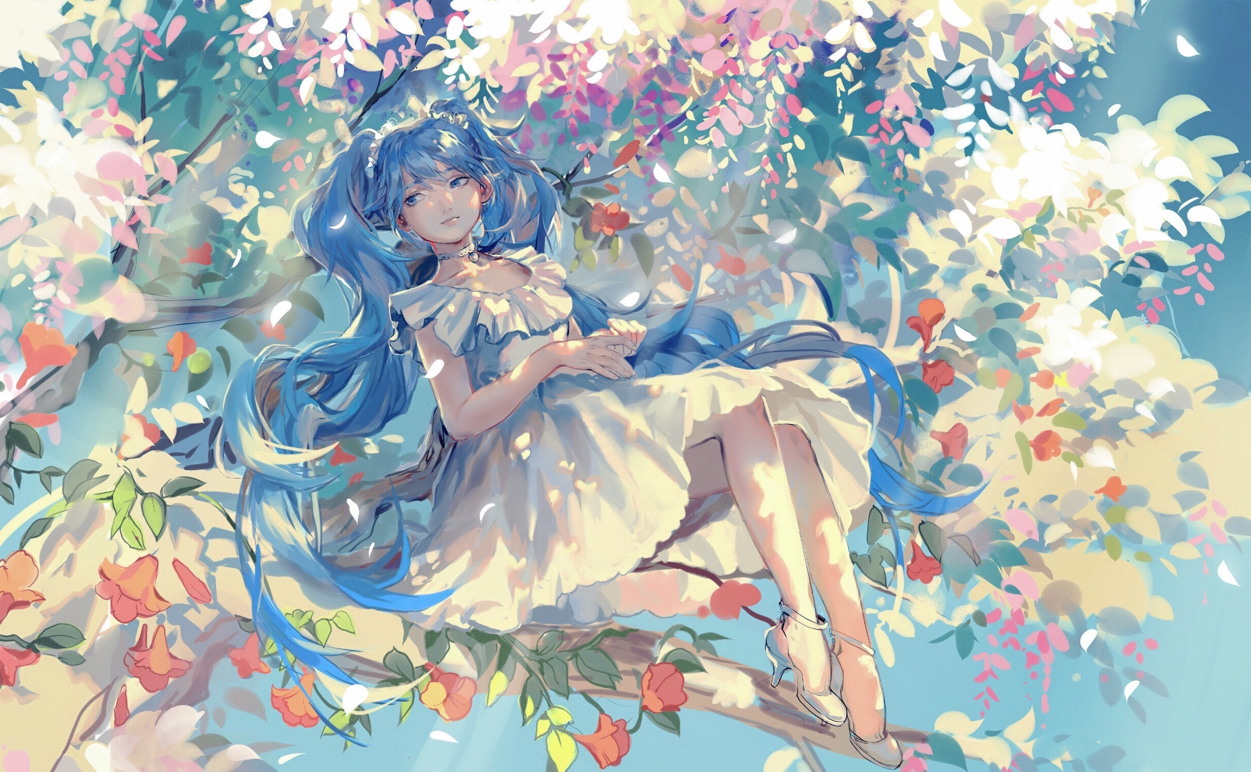 Full Hd 1080p Wallpapers Cars Heels Dress Trees Hatsune Miku Vocaloid Wallpapers Hd