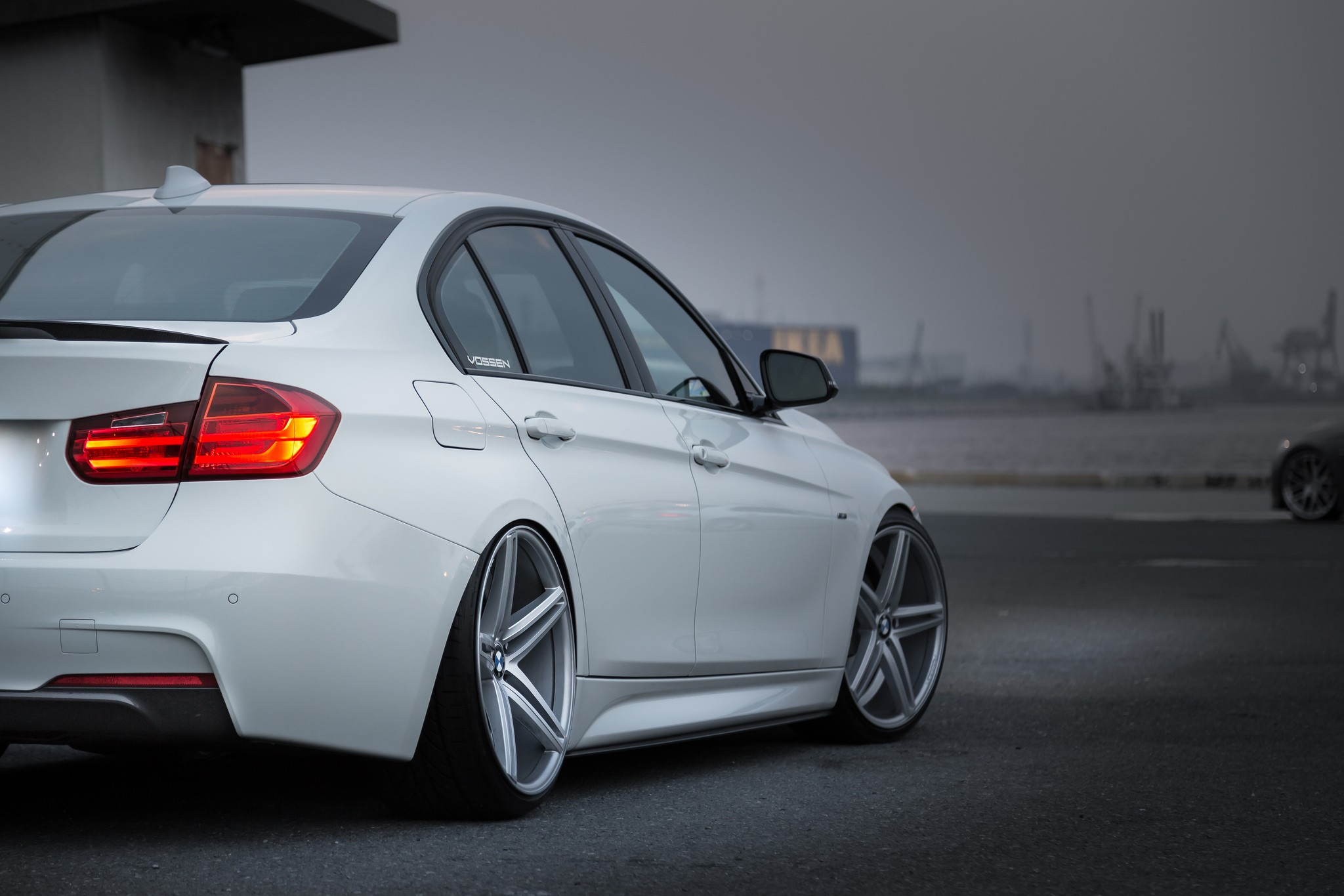 Full Hd Wallpaper For 5 Inch Screen Bmw Car Stance Simple Wheels Camber Vehicle White