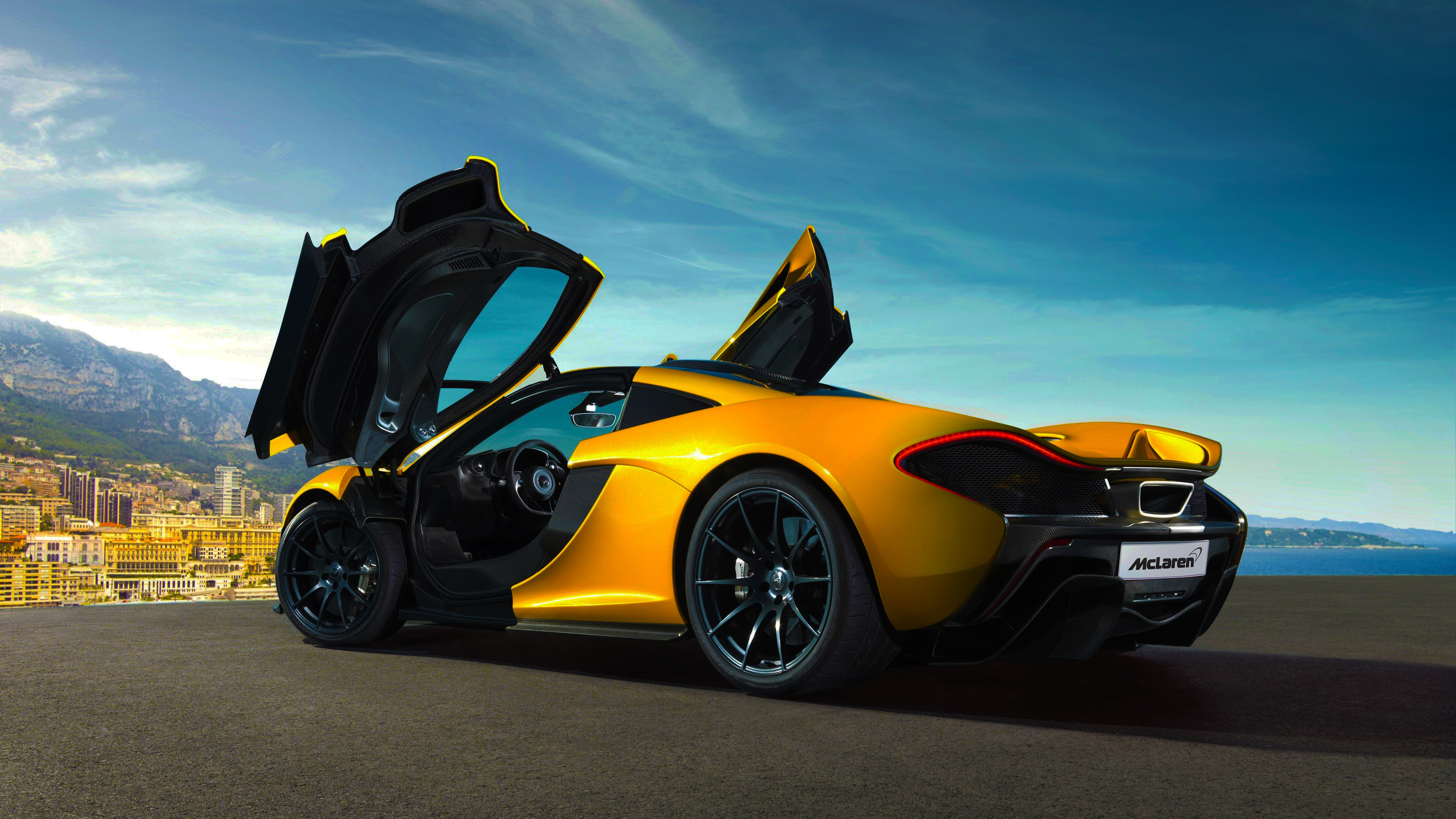 Super Car 5760x1080 Wallpaper Super Car City Yellow Blue Sky Clouds Vehicle Car