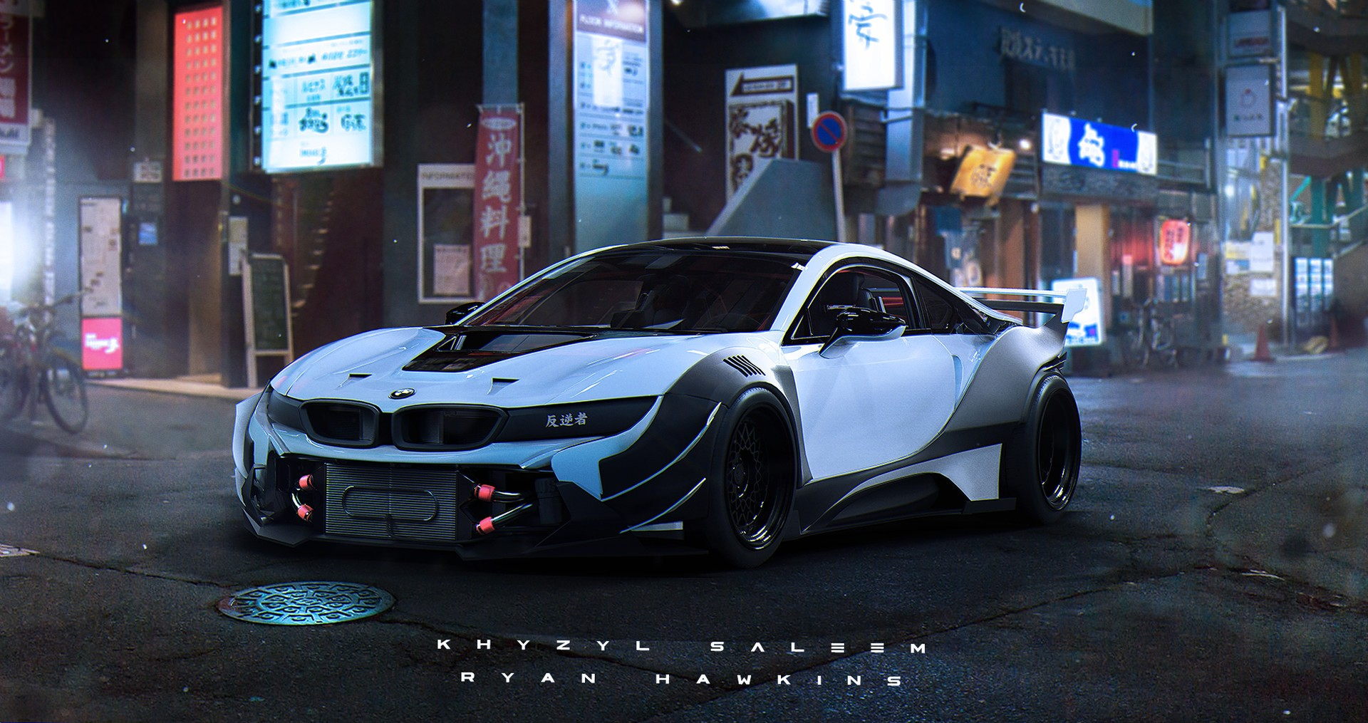 Super Car 5760x1080 Wallpaper Khyzyl Saleem Artwork Tuning Bmw I8 Wallpapers Hd