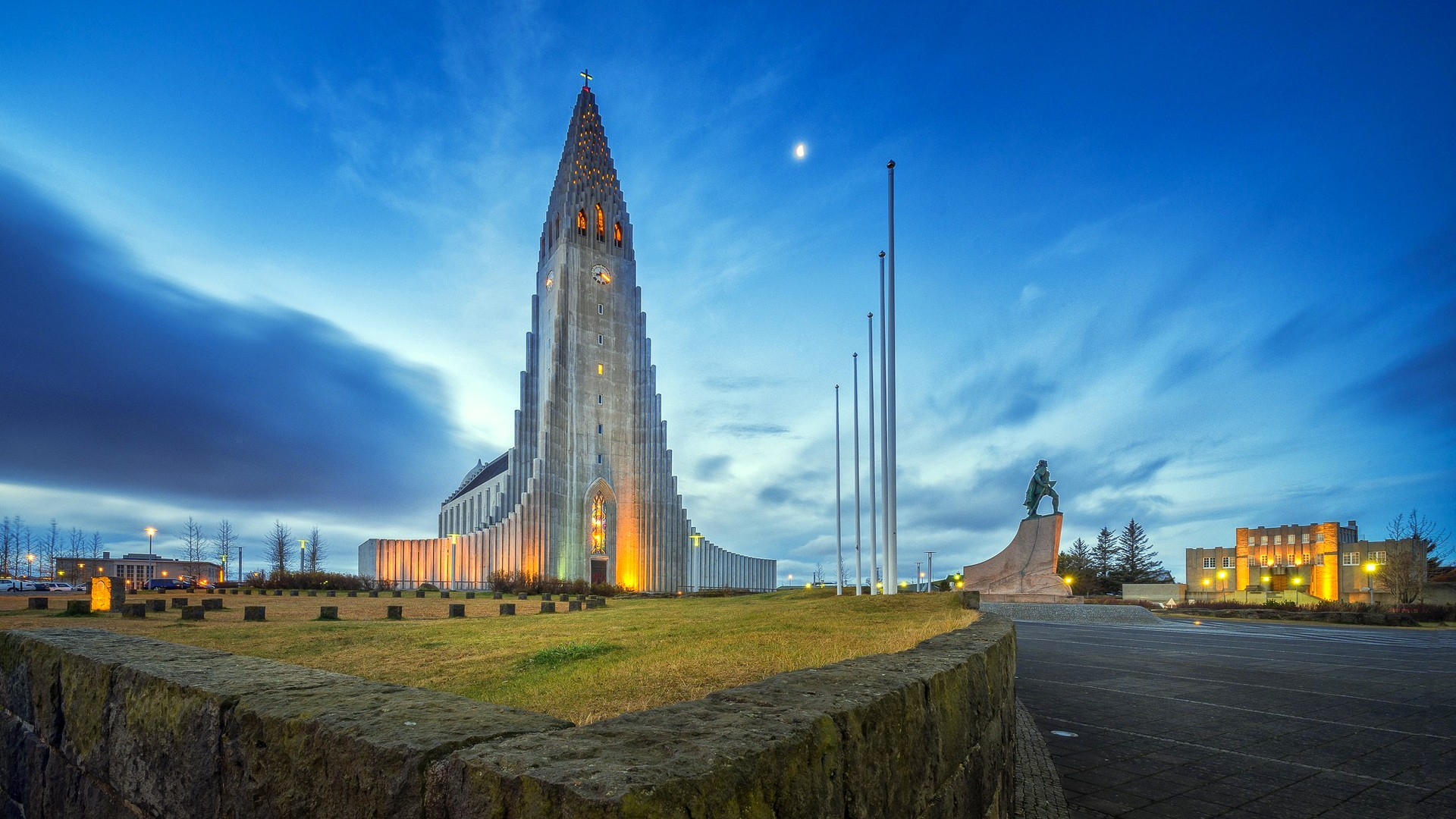 Full Hd 3d Wallpapers 1920x1080 Free Download For Mobile Architecture Building Reykjavik Iceland Church Modern