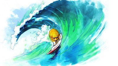 dog, Surfing, Drawing Wallpapers HD / Desktop and Mobile Backgrounds