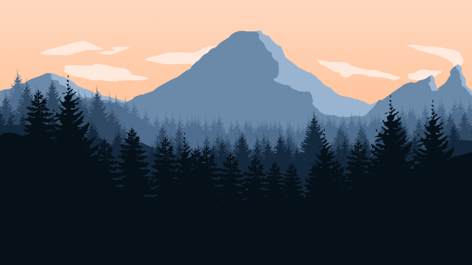 Gravity Falls Landscapes Wallpaper Firewatch Mountains Forest Sky Landscape Artwork