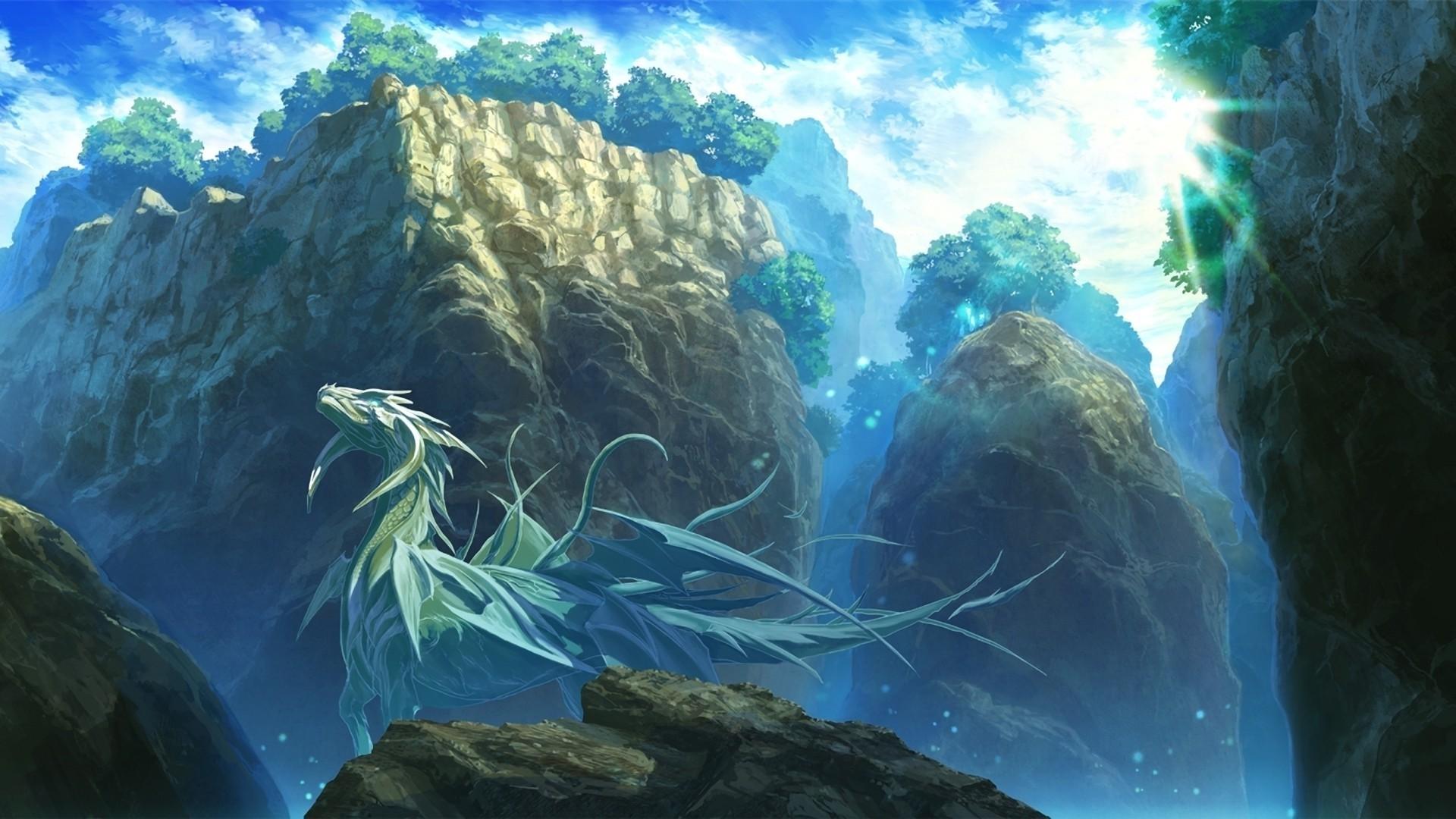 Pokemon Wallpaper 3d Hd Fantasy Art Dragon Mountain Wallpapers Hd Desktop And