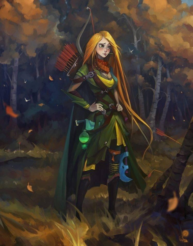 4k Fall Wallpaper For Phone Windrunner Dota 2 Archers Dota Windranger Fantasy Art