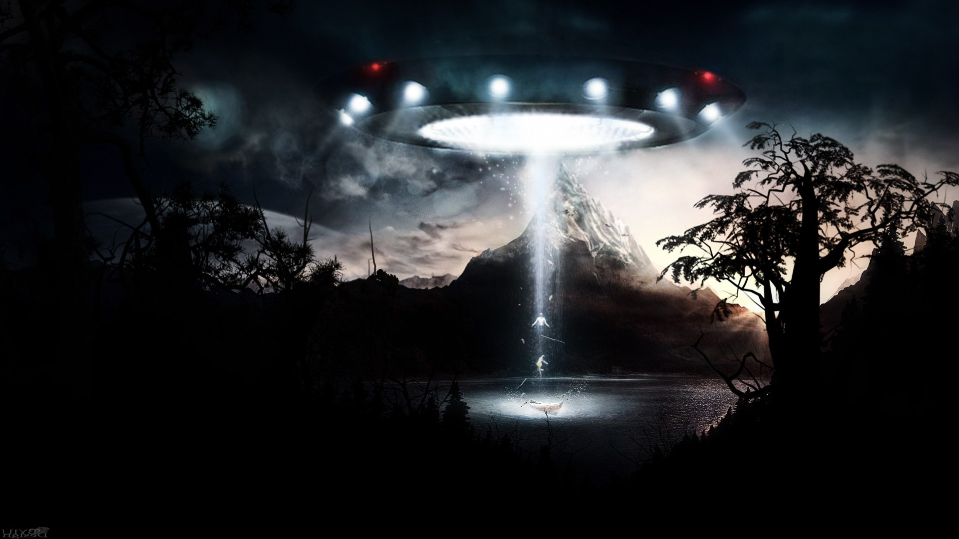 Iphone X Wallpaper Gif Landscape Fantasy Art Ufo Wallpapers Hd Desktop And Mobile
