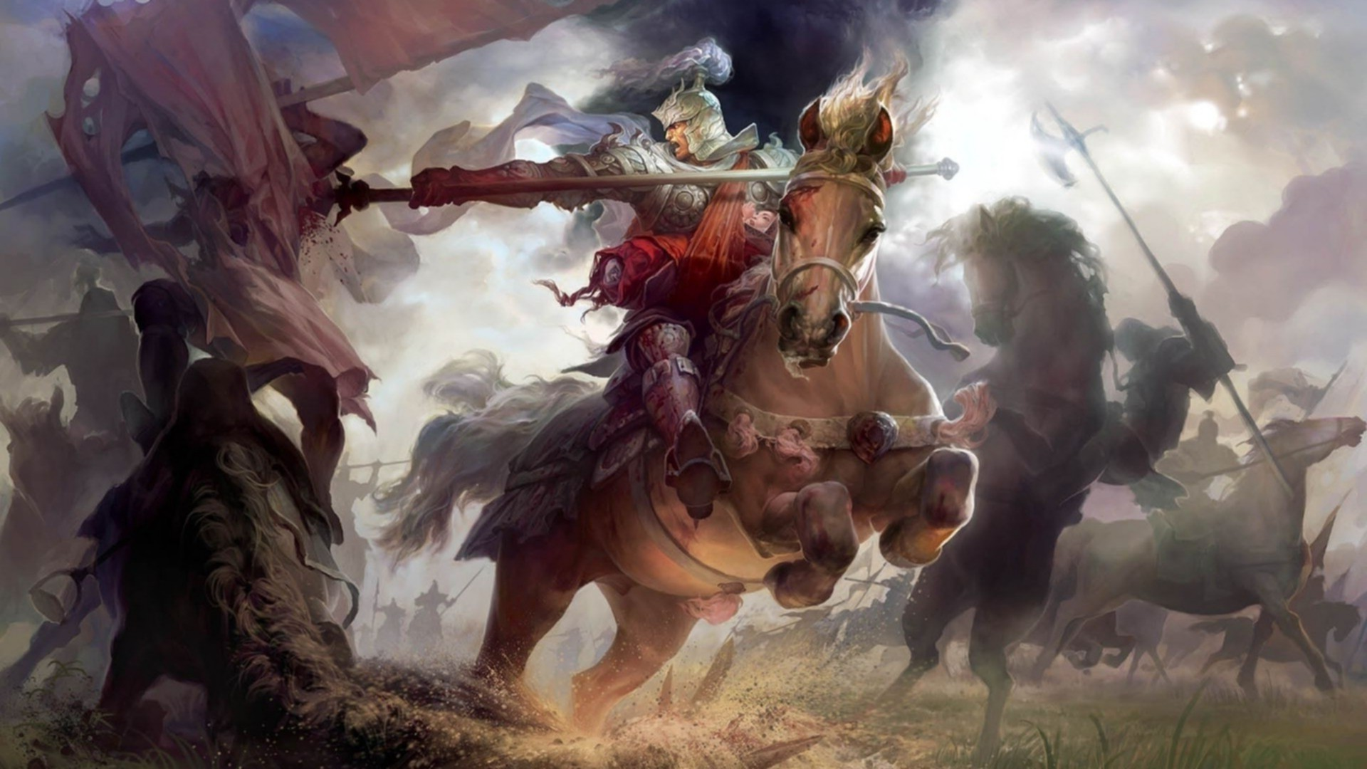 Soldier Girls Wallpapers Knight Spear Fantasy Art Wallpapers Hd Desktop And