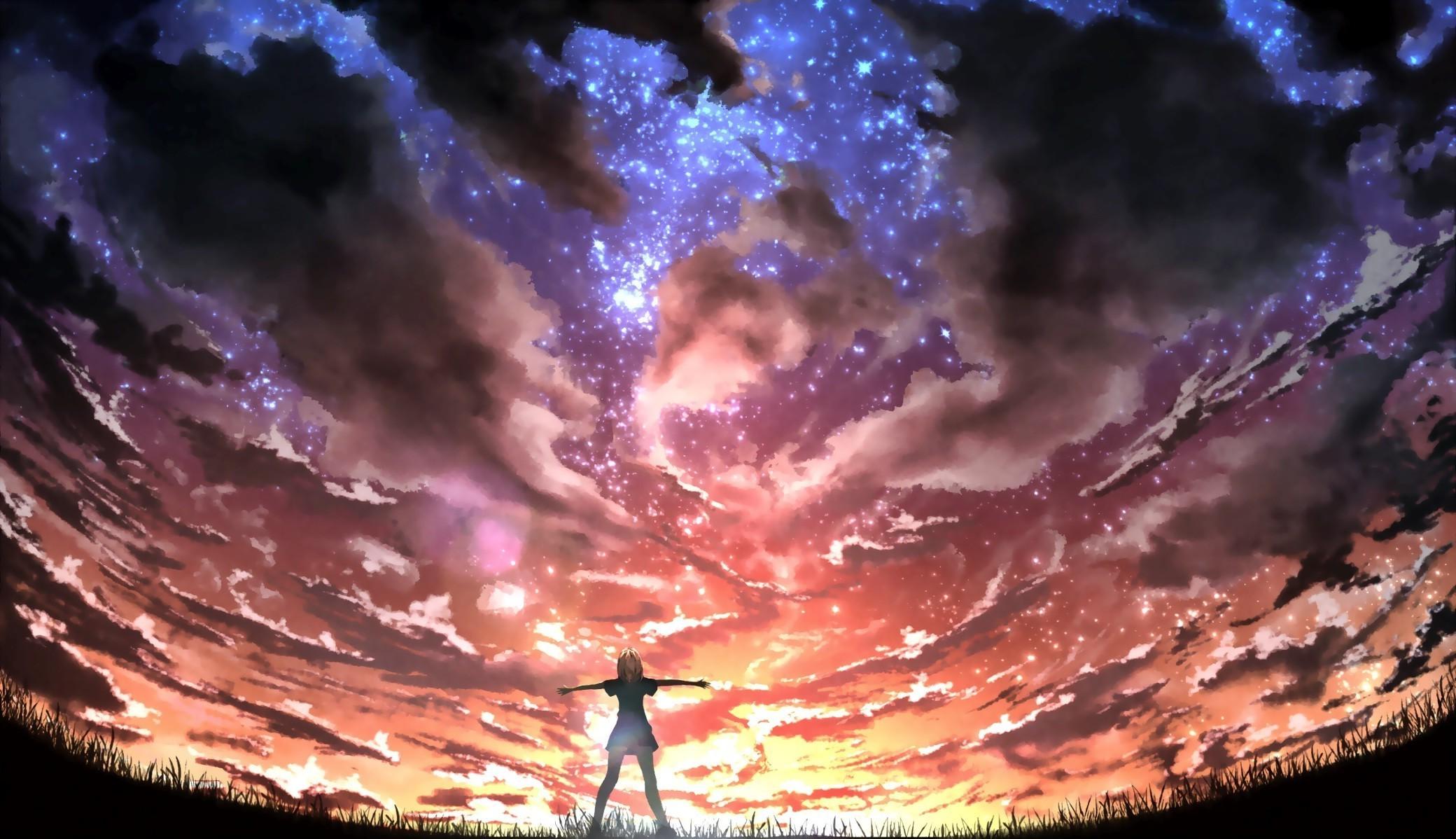 Desktop Wallpaper Hd 3d Full Screen God Digital Art Sky Anime Girls Anime Artwork Wallpapers