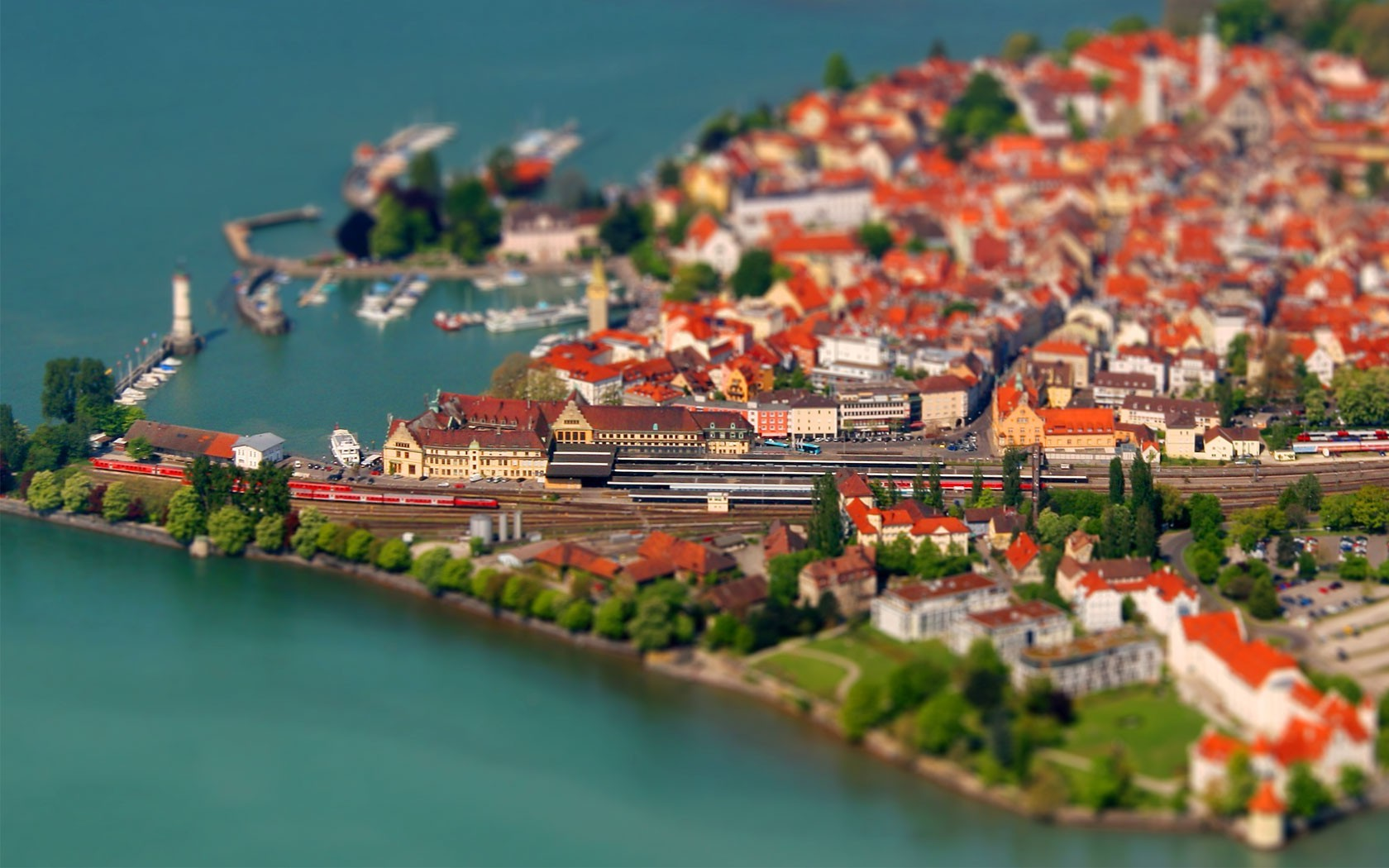Mobile De Allemagne Lindau, Germany, Coast, Cityscape, Tilt Shift, Lake