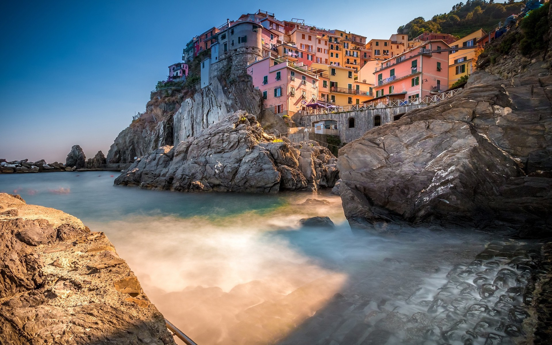 3d Movie Wallpapers Hd Manarola Italy Coast Nature City Europe Shadow Town
