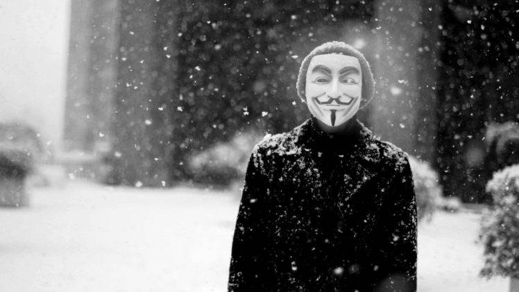 Hacker Iphone Wallpaper Anonymous Snow Guy Fawkes Mask Wallpapers Hd Desktop