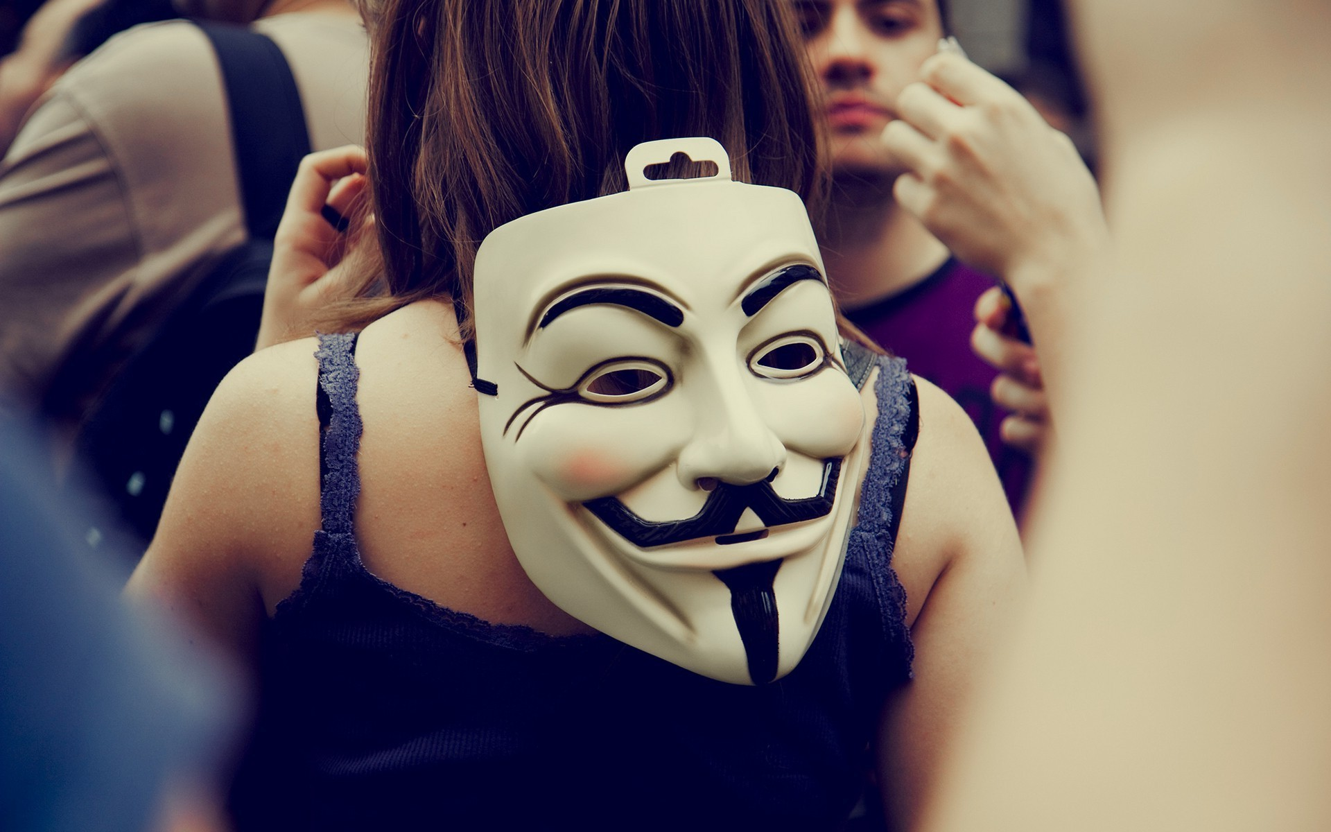 Girl Face Wallpaper 5k Anonymous Guy Fawkes Mask Back Wallpapers Hd Desktop
