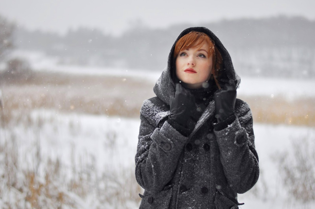 Uhd Wallpapers Girl Women Redhead Alina Kovalenko Women Outdoors Snow