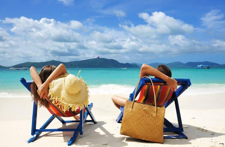 relaxation, Couple, Men, Women, Landscape, Nature, Beach, Sea