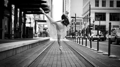 ballerina, Legs, Spread Legs, Looking Up, Ballet, City Wallpapers HD / Desktop and Mobile ...