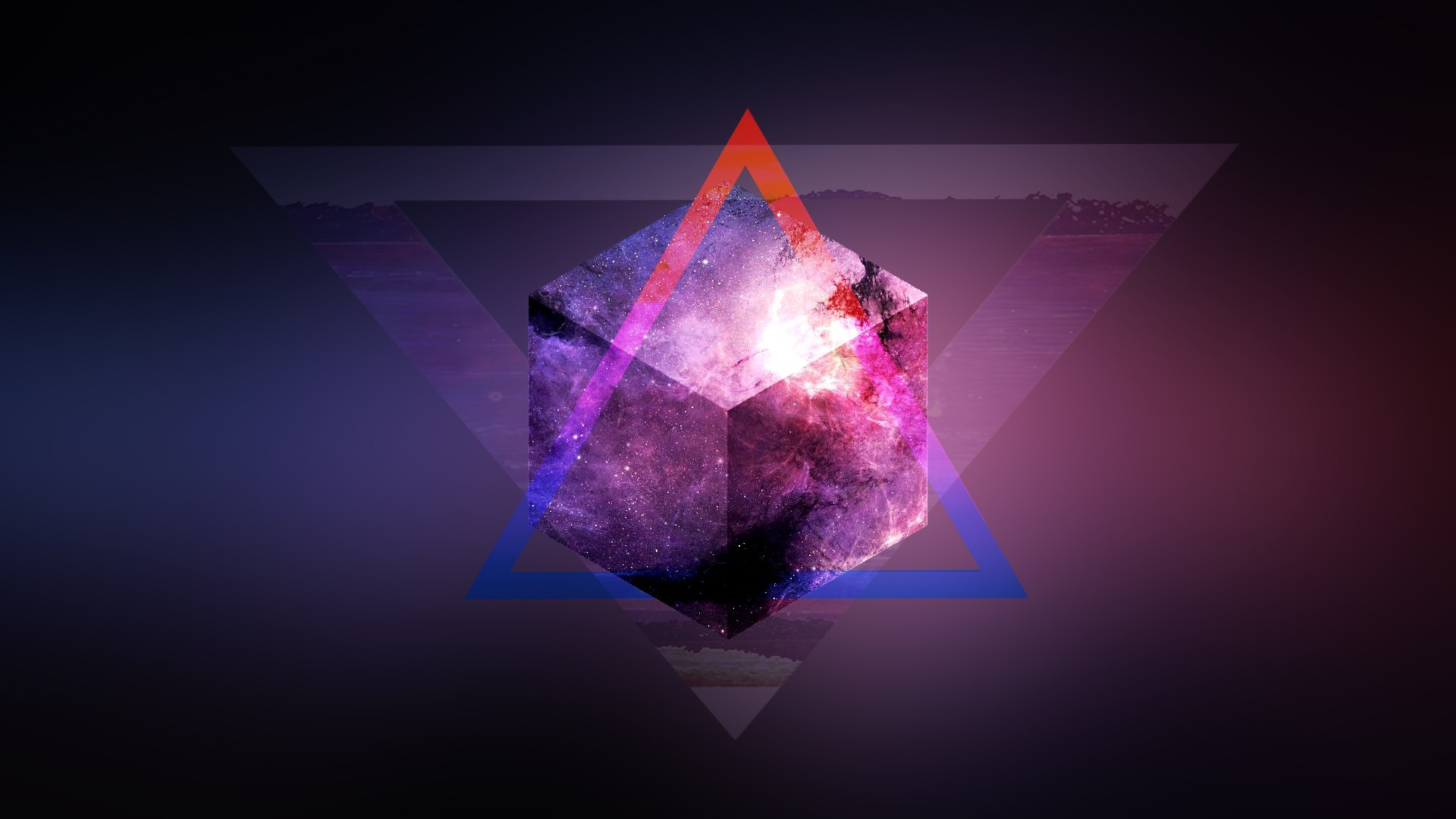 Iphone X Fortnite Wallpapers Space Mix Up Purple Triangle Blurred 3d Wallpapers Hd