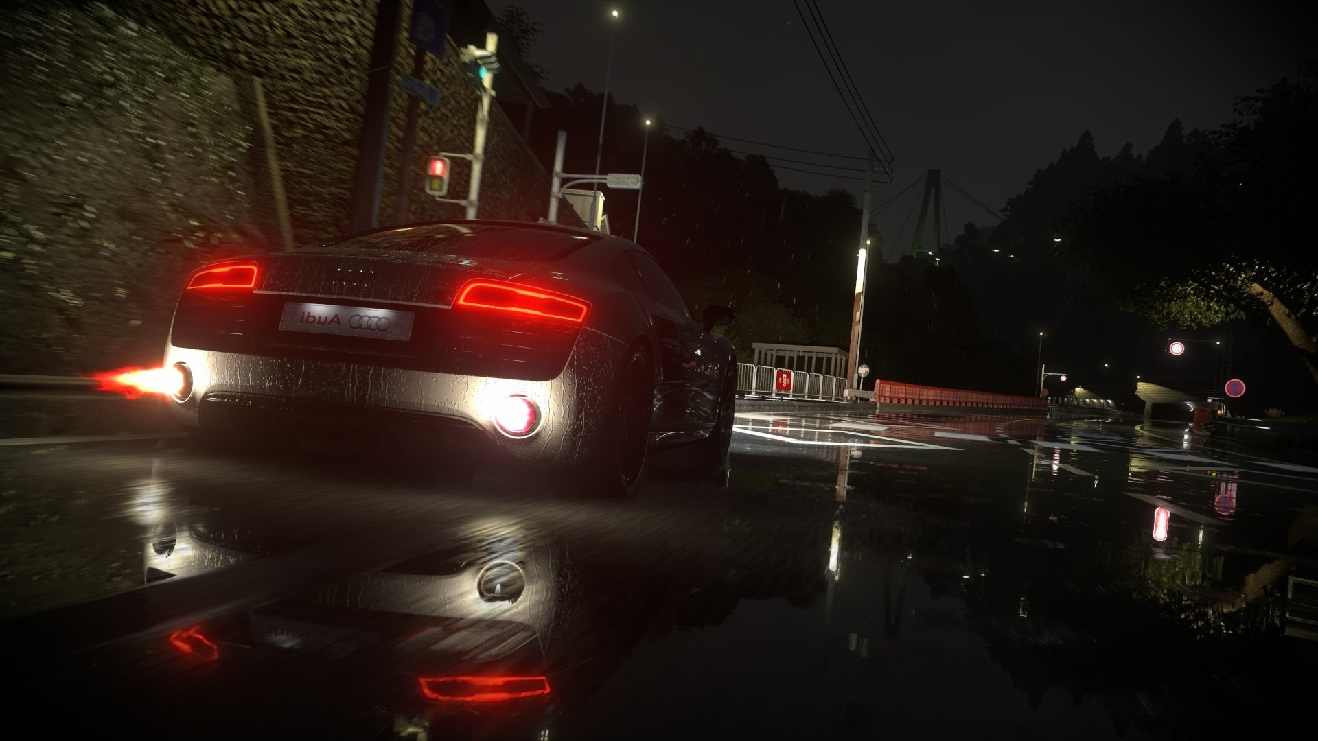 Car 5760x1080 Wallpaper Driveclub Audi V10 Engine Rain Audi R8 Video Games