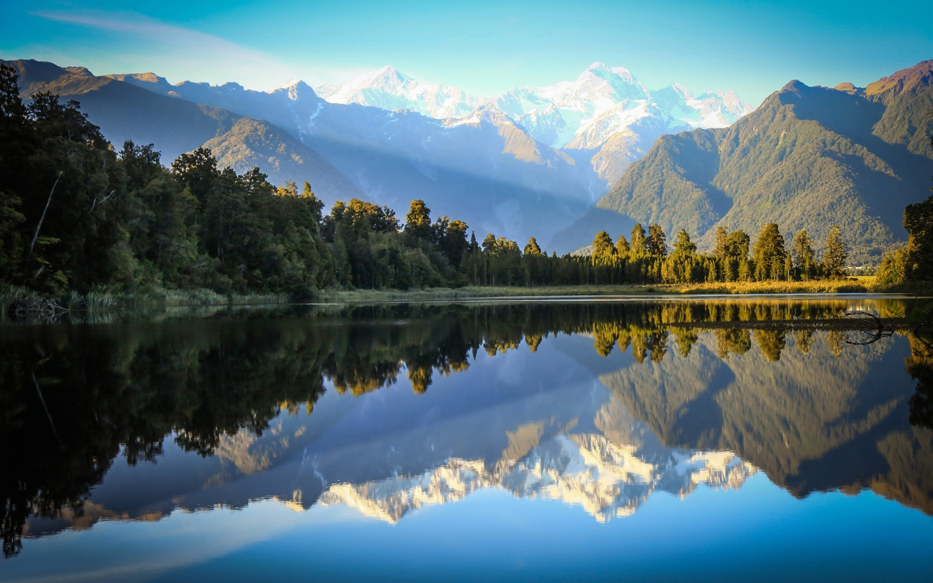 Lotr Fall Wallpaper Mountains River Reflections Nature Landscape