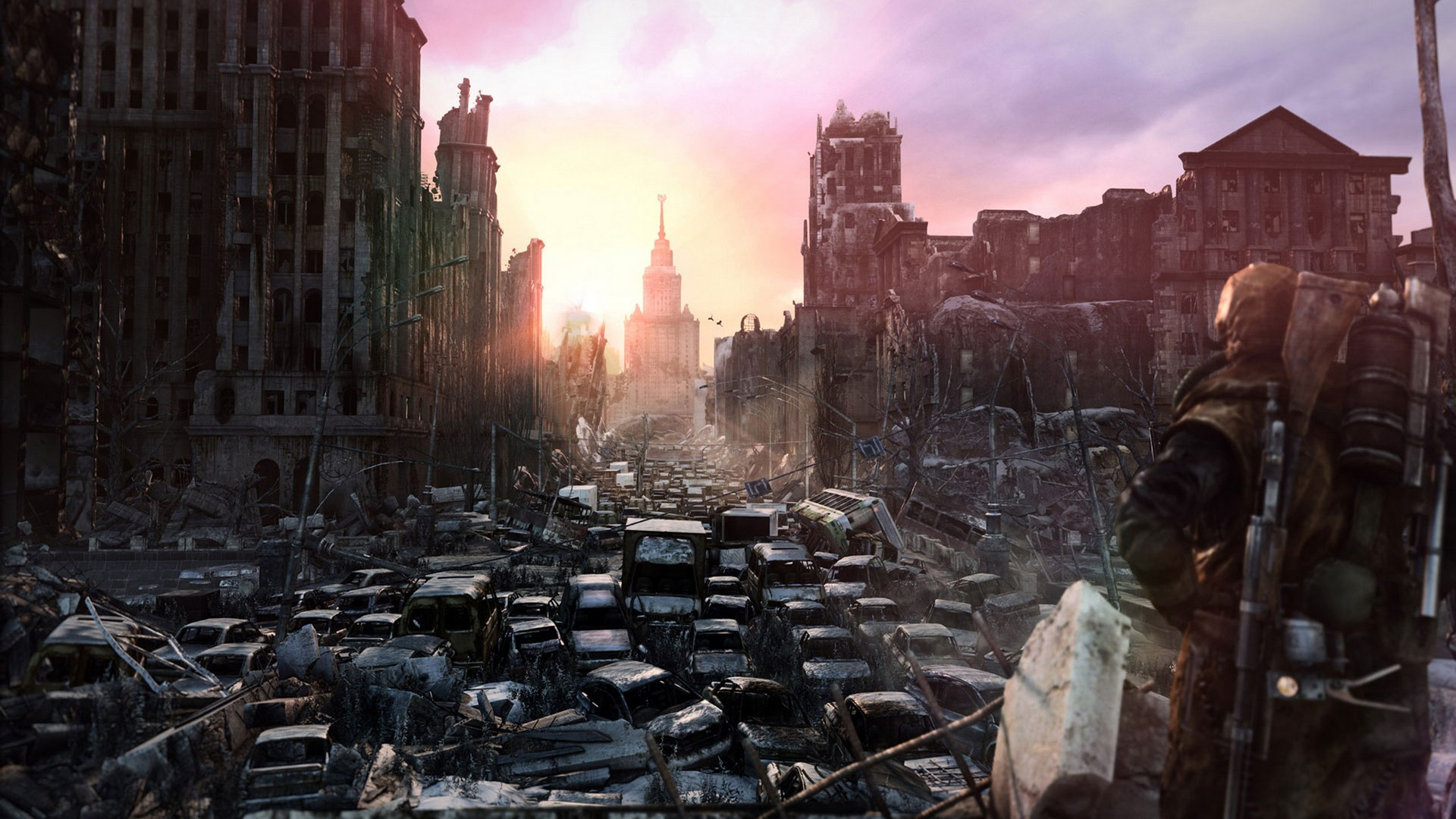 3d Futuristic Wallpapers Metro 2033 Apocalyptic Video Games Wallpapers Hd