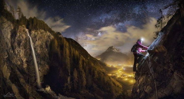 Alone Girl Hd Wallpaper Free Download Women Nature Landscape Mountains Clouds Long Exposure