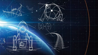 digital Art, Space, Universe, Stars, Planet, Drawing, Geometry, Square, Lines, Sketches, Rockets ...