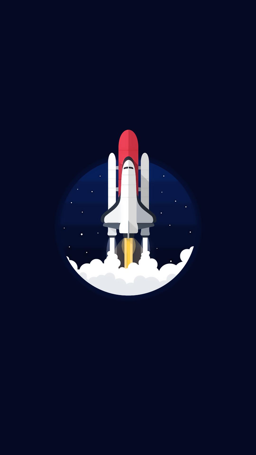 I Want To Believe Wallpaper Iphone Digital Art Portrait Display Rockets Spaceship Simple
