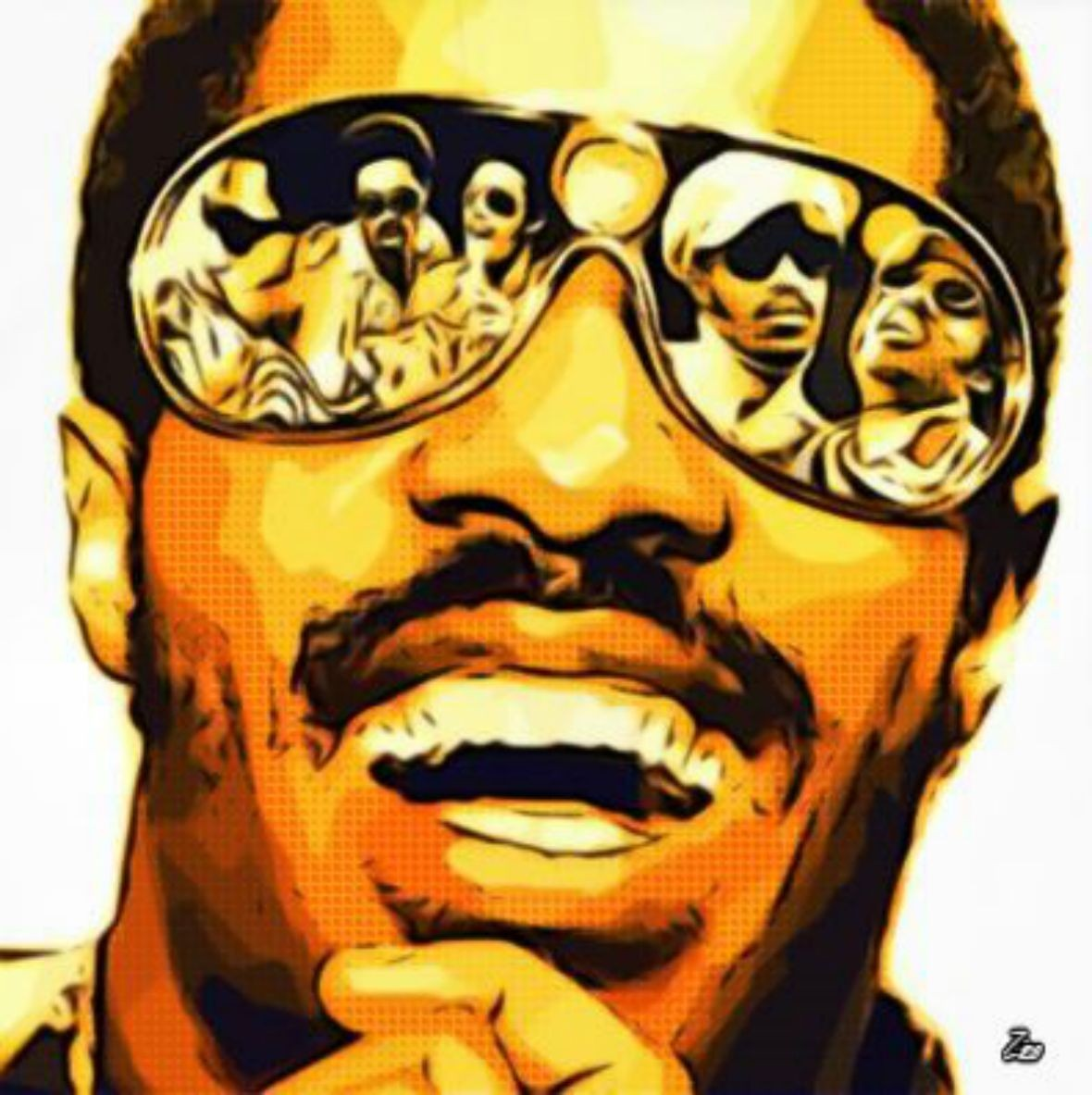 Moustache Wallpaper Hd Musicians Singer Stevie Wonder Digital Art Songs Pop