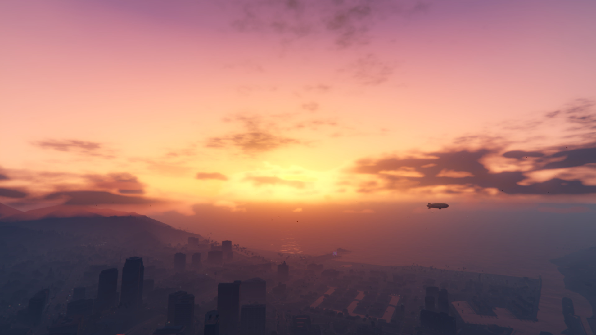 Nice 3d Love Wallpaper For Mobile Grand Theft Auto V Sunset Sea City Clouds Wallpapers