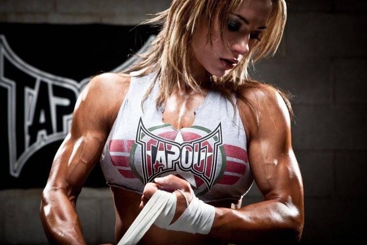 3d Kickboxing Wallpaper Pauline Nordin Fitness Model Barbell Bodybuilding