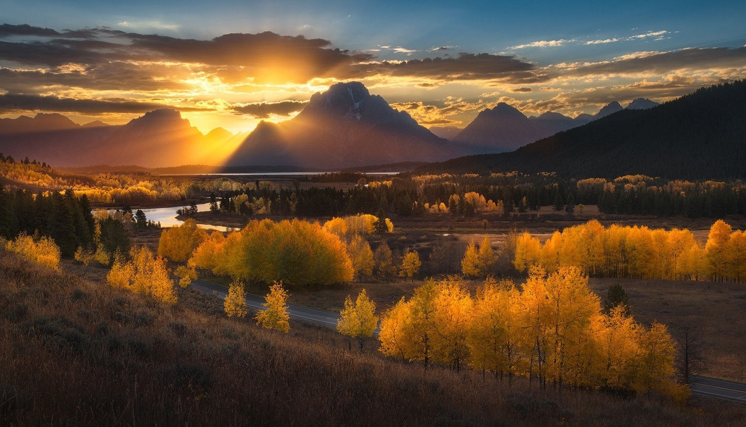 Fall Foliage Wallpaper For Computer Nature Photography Landscape Sunset Mountains Sun