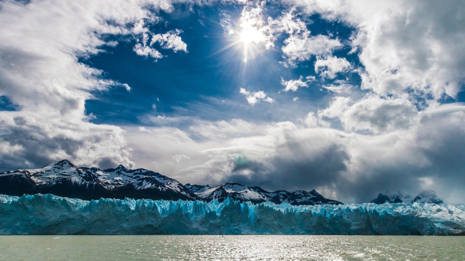 Full Hd God Wallpaper Download Nature Landscape Water Sea Sun Clouds Mountains Ice