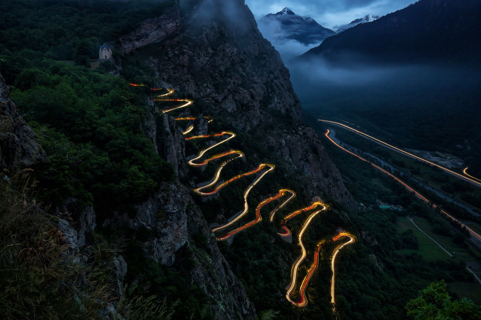 Full Hd Car Wallpapers 1920x1080 Download Landscape Lights Car Long Exposure Mountains Clouds