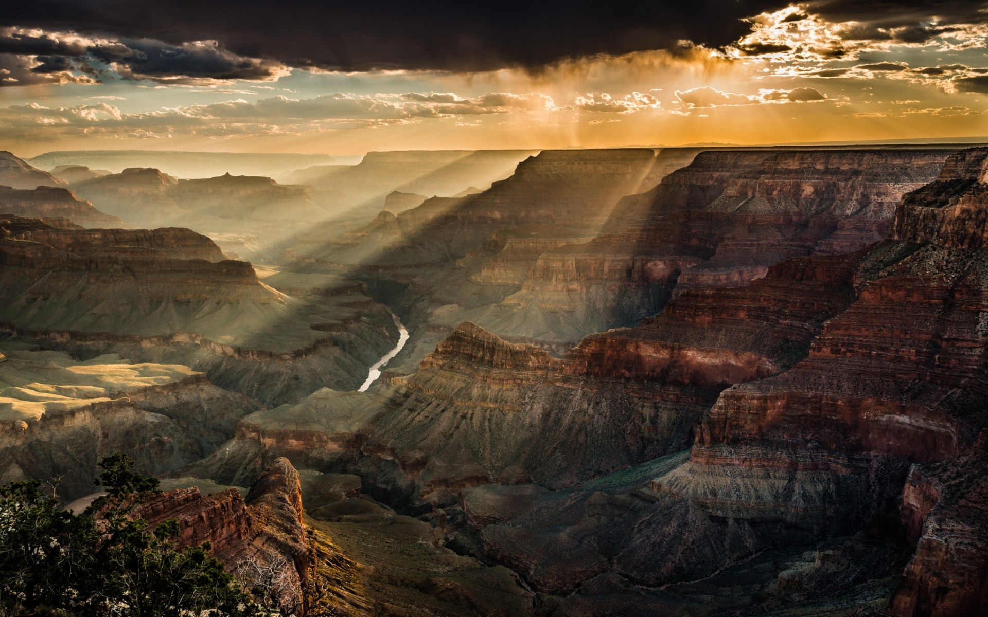 Grand Canyon Wallpaper Hd Nature Landscape Clouds Trees Canyon Grand Canyon