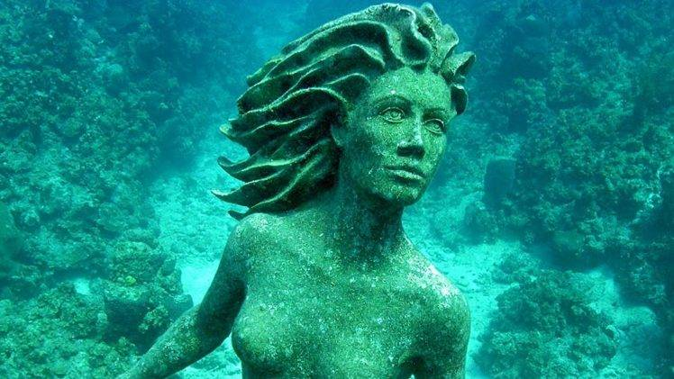 Cuba 3d Wallpaper Statue Underwater Wallpapers Hd Desktop And Mobile