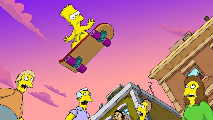 The Simpsons 3d Wallpaper The Simpsons Bart Simpson Skateboard Wallpapers Hd
