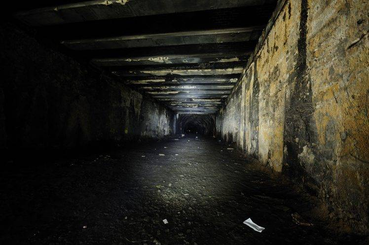 Flashlight 3d Wallpaper Tunnel Dark Flashlight Night Sewers Urban Exploration