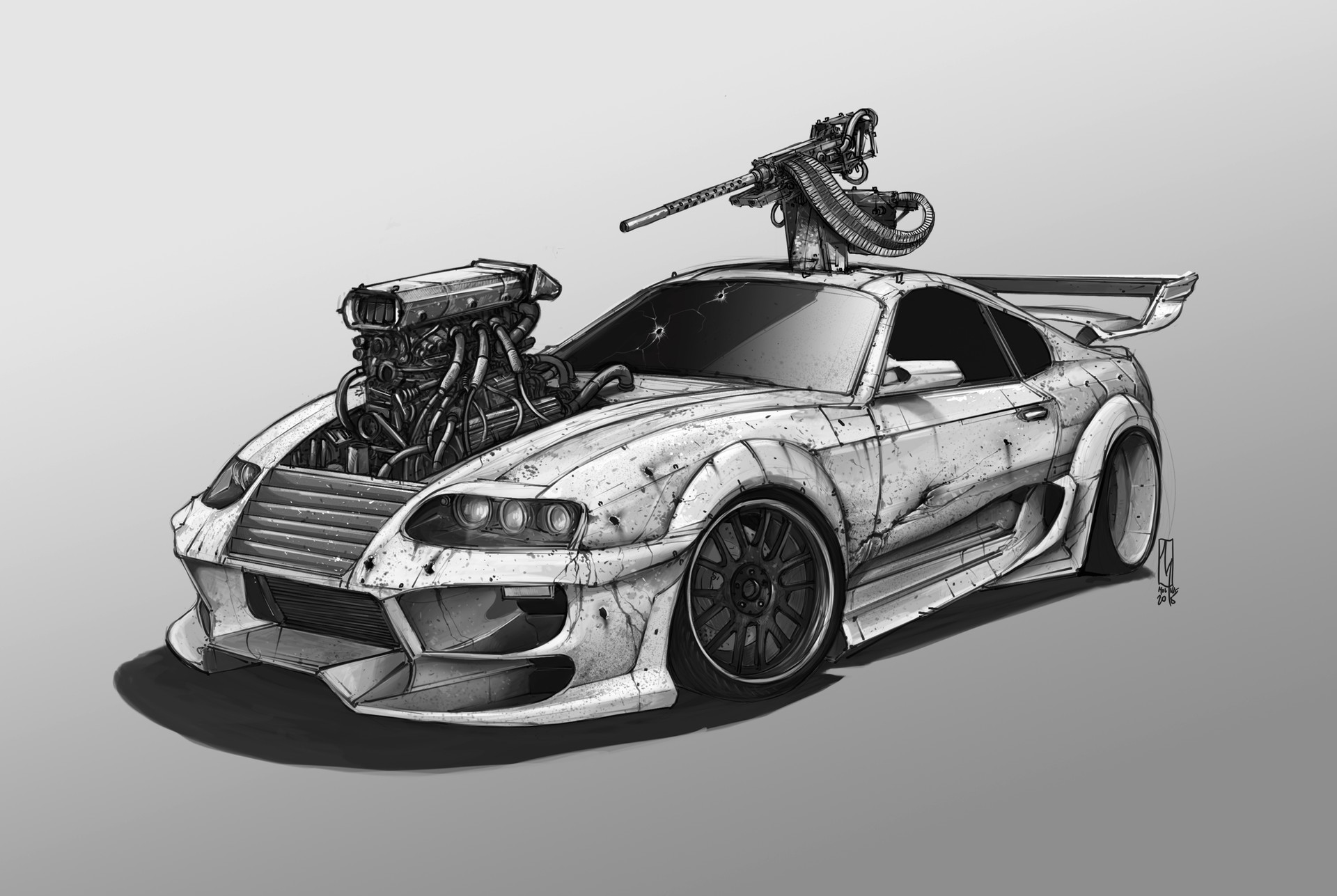 Fast And Furious 4 Cars Wallpapers Car Toyota Supra Artwork Wallpapers Hd Desktop And