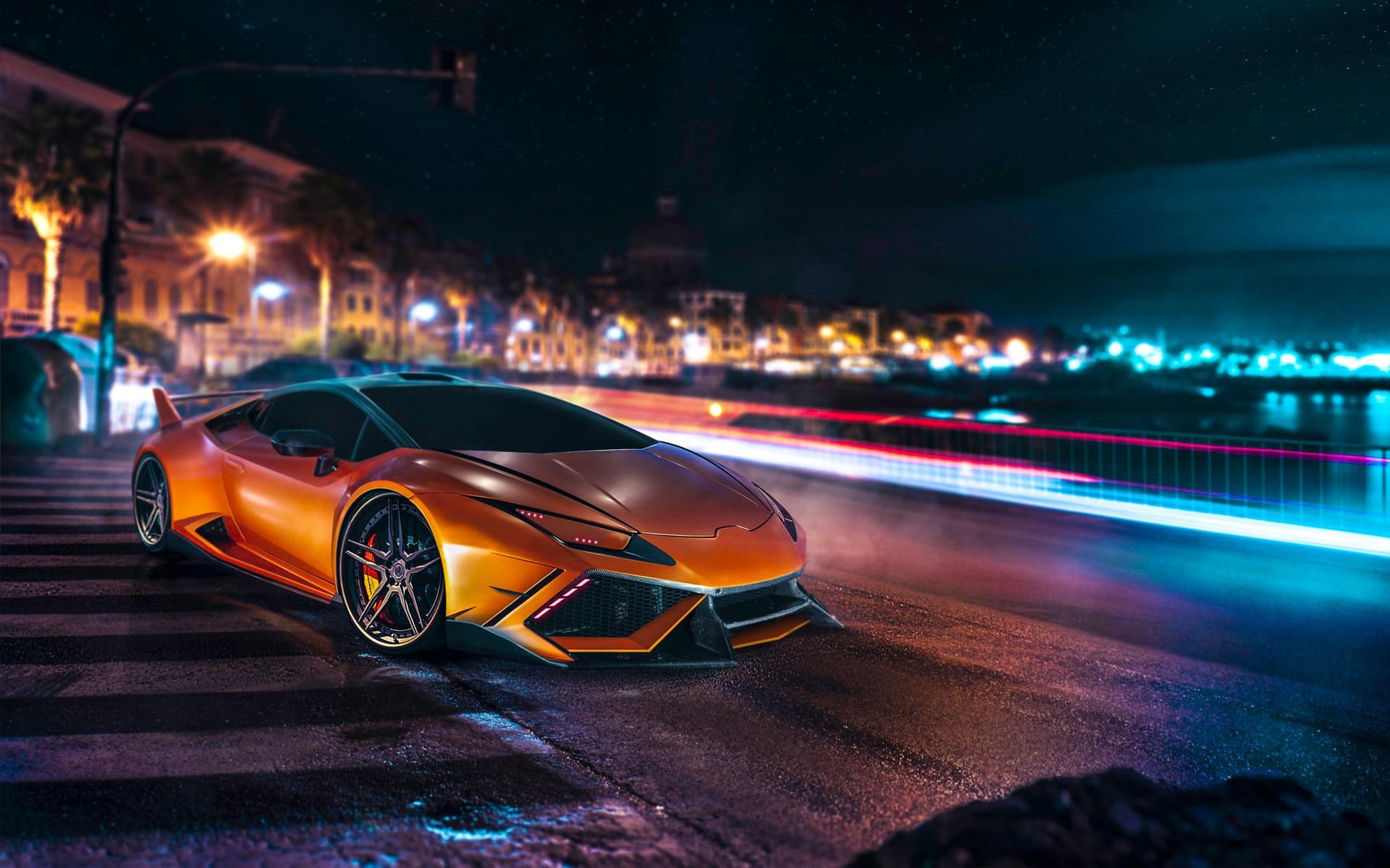 Sports Car Wallpaper Lamborghini 3d Lamborghini Huracan Car Lamborghini Orange Long