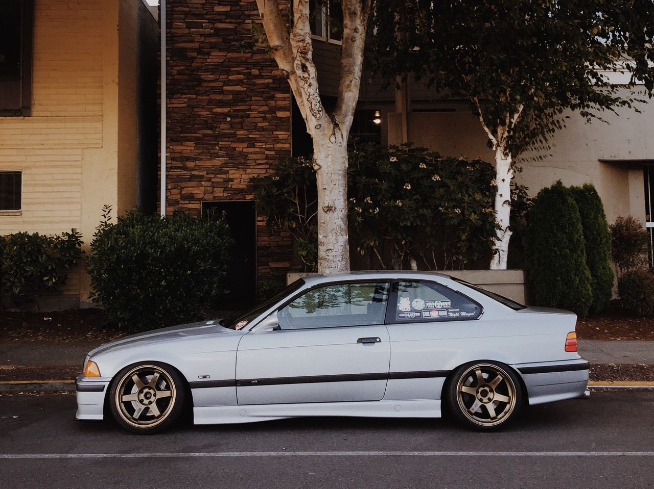 Bmw Car Hd Wallpaper For Mobile Car Bmw E36 Stance Lowered Tuning Trees Bushes