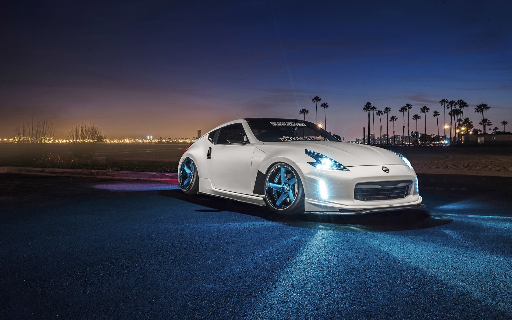 Super Car 5760x1080 Wallpaper Nissan Car Night Sports Car Nissan 370z White Cars