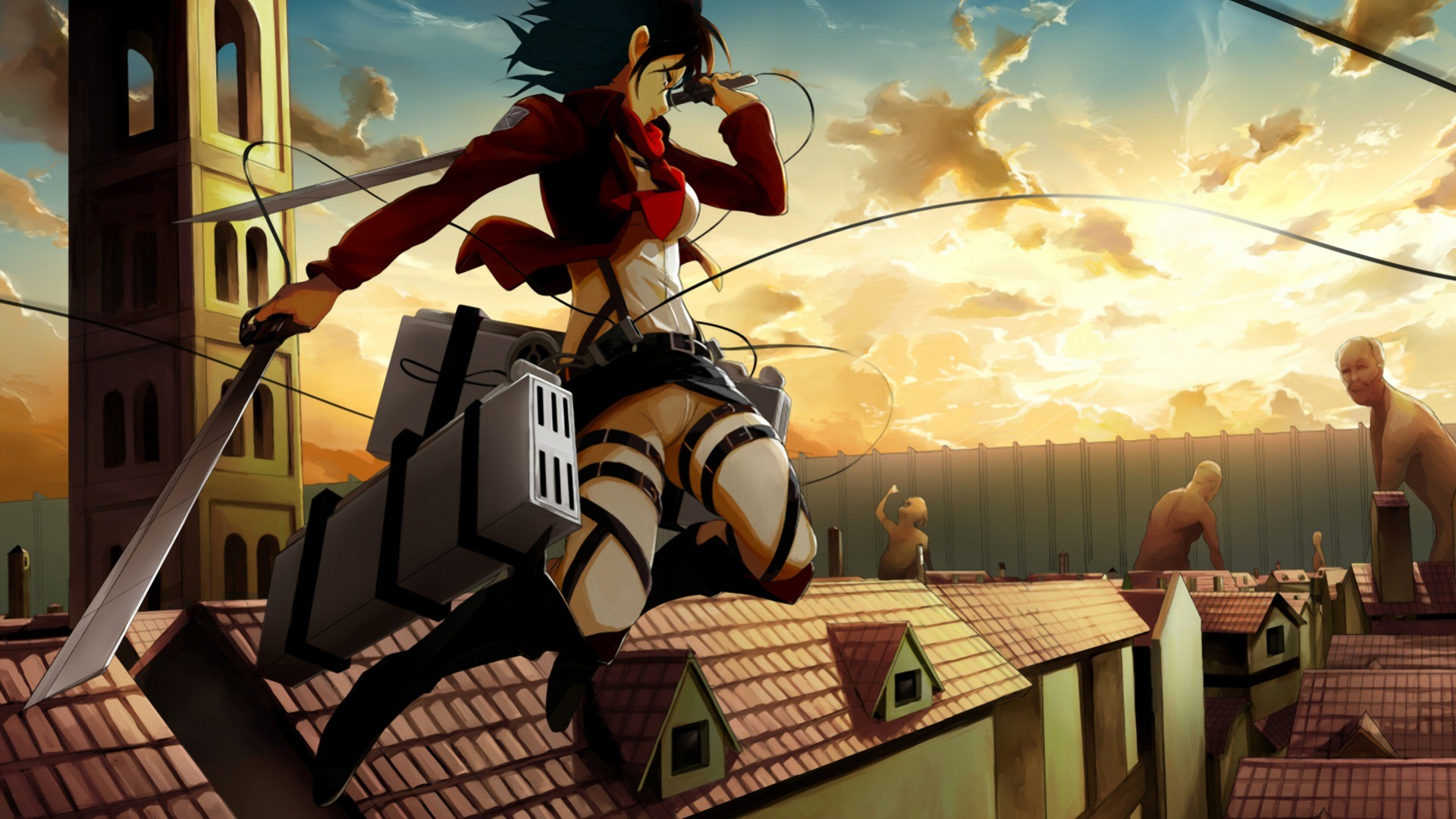 3d Wallpapers For Home Screen Shingeki No Kyojin Mikasa Ackerman Wallpapers Hd