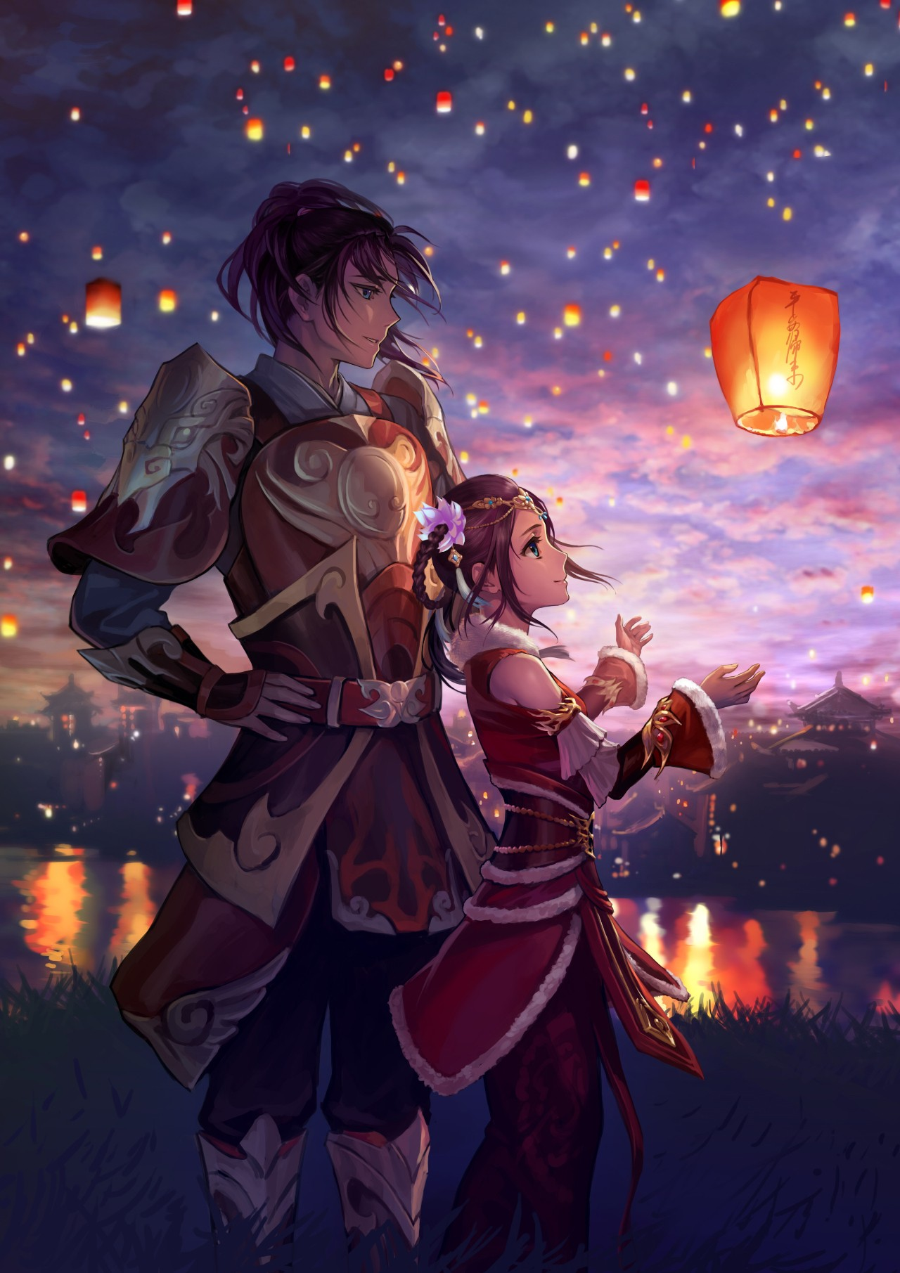 Sky Lanterns Wallpaper Iphone Lantern Lights Original Characters Sky Lanterns